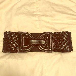 Accessories - Black Cross-Stitch Belt